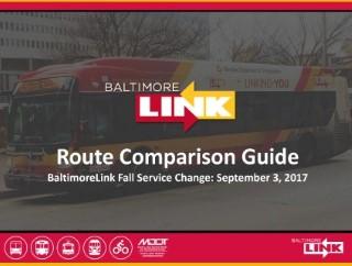 BaltimoreLink Route Comparison Guide