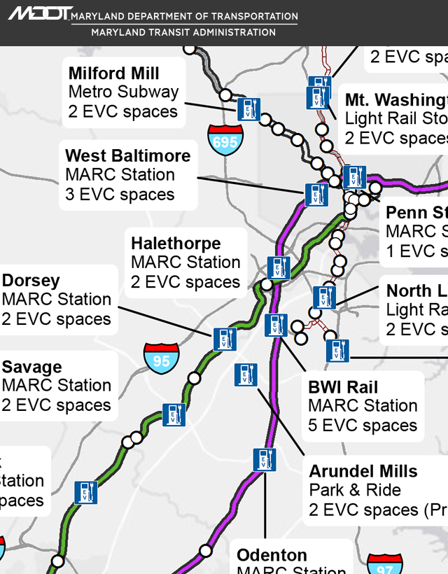MTA Electric Vehicle Charging Locations
