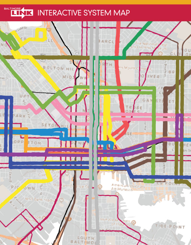 BaltimoreLink Interactive System Map