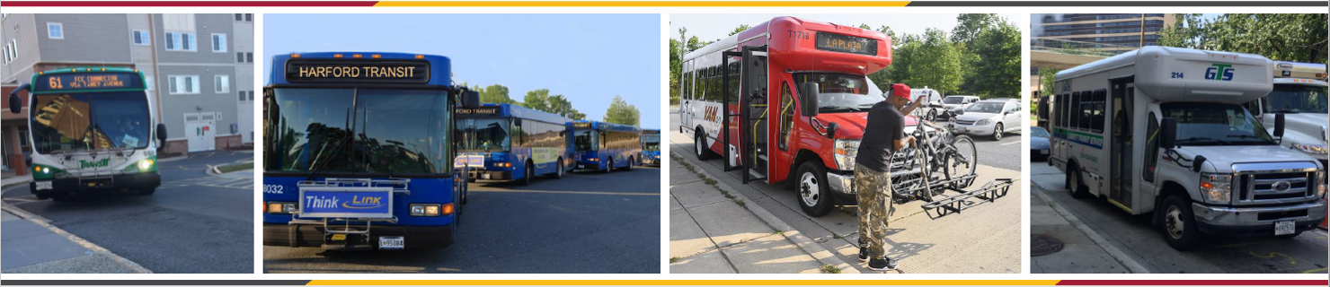Statewide Transit Plan Header Image showing different vehicle modes