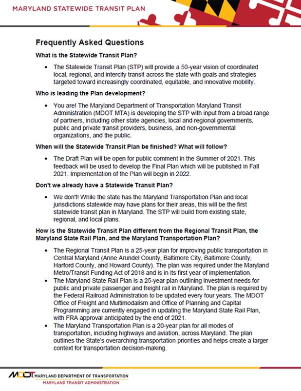 Statewide Transit Plan flyer thumbnail