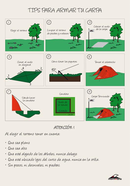 Consejos para armar la carpa Infografia