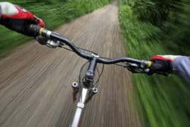 mountain biking rider's view