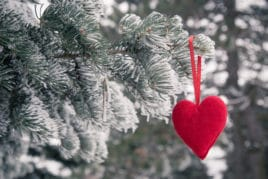 Valentine's Day heart in the snow