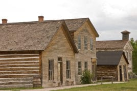 Bannack State Park ghost town two-story building was a rooming house and the second one was a combination school and Masonic Lodge