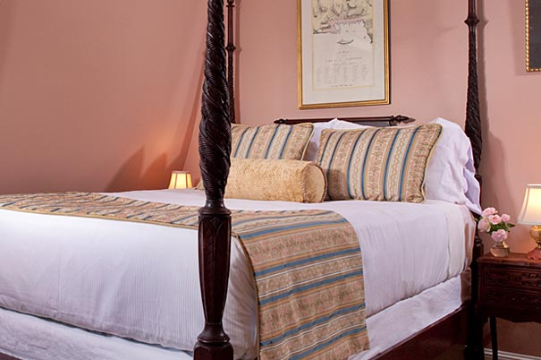 Antique Four-poster Bed in Our Newport RI Suite - Swan Room