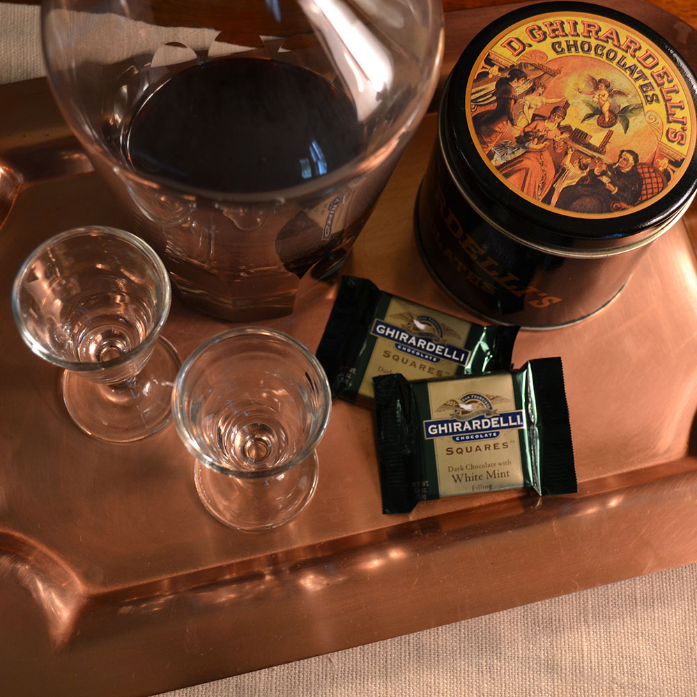Ghirardelli Chocolates and Port Tray