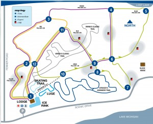 cMuskegon Winter Sports Complex Trail Map