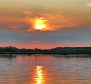 Enjoy Sunset on the water with Horicon Marsh Boat Tours