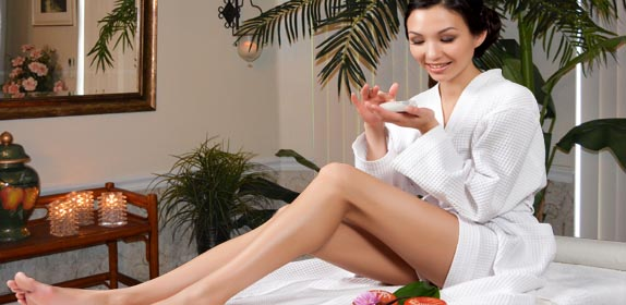 Spa service for her at Island Cottage Oceanfront Inn and Spa, Flagler beach, Florida