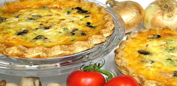 Quiche at Island Cottage Oceanfront Inn and Spa, Flagler beach, Florida