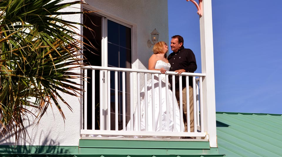 Private Balcony at Island Cottage Oceanfront Inn and Spa