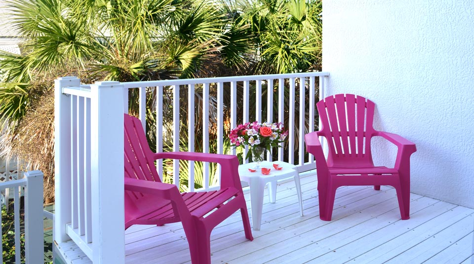 Private Balcony at Island Cottage Oceanfront Inn and Spa, Flagler Beach, Florida