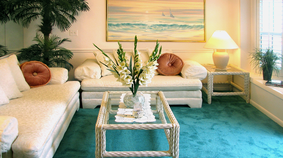 Bahamas Villa couch and love seat  at Island Cottage Oceanfront Inn and Spa, Flagler Beach, Florida