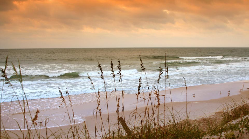Private Beach at Romance at Island Cottage Oceanfront Inn and Spa, Flagler beach, Florida