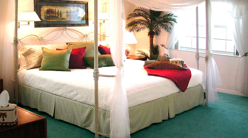 Luxurious Master Bedroom at Romance at Island Cottage Oceanfront Inn and Spa, Flagler beach, Florida