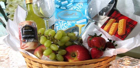 Basket of Cheer at Island Cottage Oceanfront Inn and Spa, Flagler beach, Florida