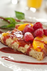Peach Melba French Toast