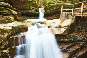 Sabbaday Falls, a refreshing waterfall hike in New Hampshire