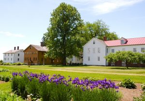 Historic Canterbury Shaker Village and flower gardens