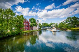 Historic Lakewalk along Winnipesaukee River in Laconia