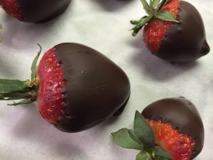 Love is...chocolate covered strawberries