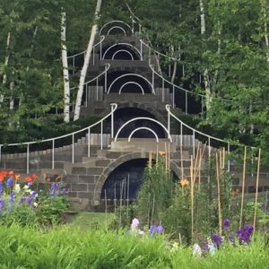 Cascading steps, waterfalls, birches and gardens at Naumkeag