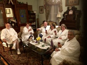 Cheers to Rookwood relaxation with robes