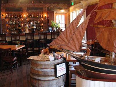 San Juan Island Restaurant Cask and Schooner at the bar