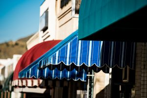 colorful downtown awnings