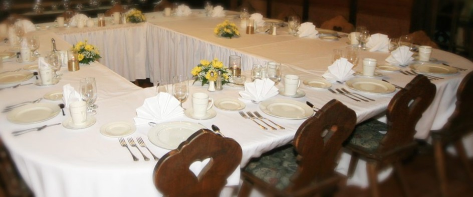 dining room set for event