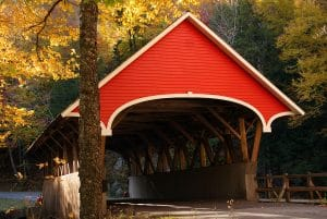Covered Bridges in White Mountains, New Hampshire