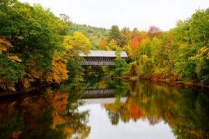 Covered Bridge in the White Mountains, New Hampshire