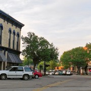 Downtown Montague shopping district