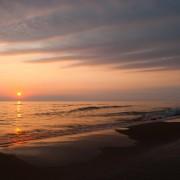 Glorious sunset at Lake Michigan