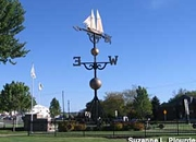 World's largest weathervane located in Montague, Michigan