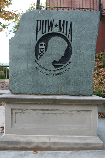 Tribute to the POW and MIA.