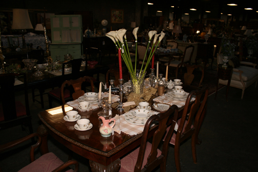 One of many dining rooms