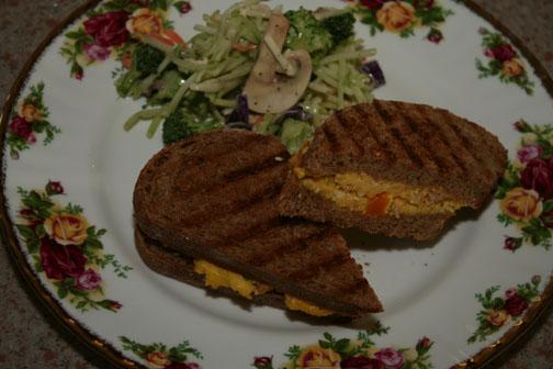 Ham and Egg panini recipe