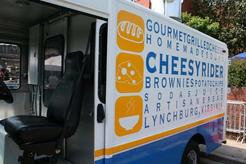 Cheesy rider food truck in lynchburg vathe carriage house