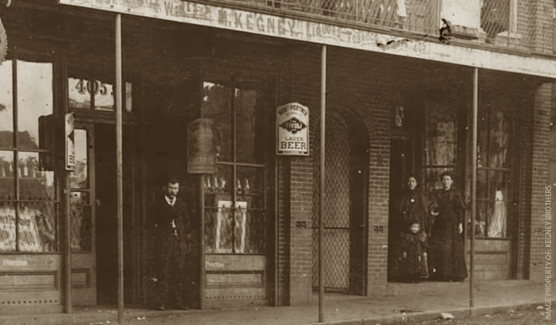 The original Kegney Brothers Pub in the late 1800's