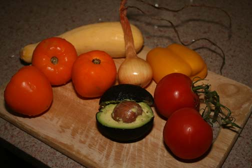 The ingredients for Golden Gazpacho