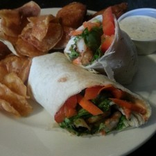 Burgers and wraps ate served at the White Hart Cafe