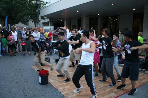 Street performance at previous Get Downtown