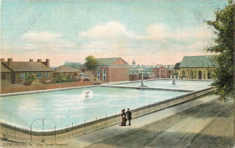Post card of the Clay Street Reservoir