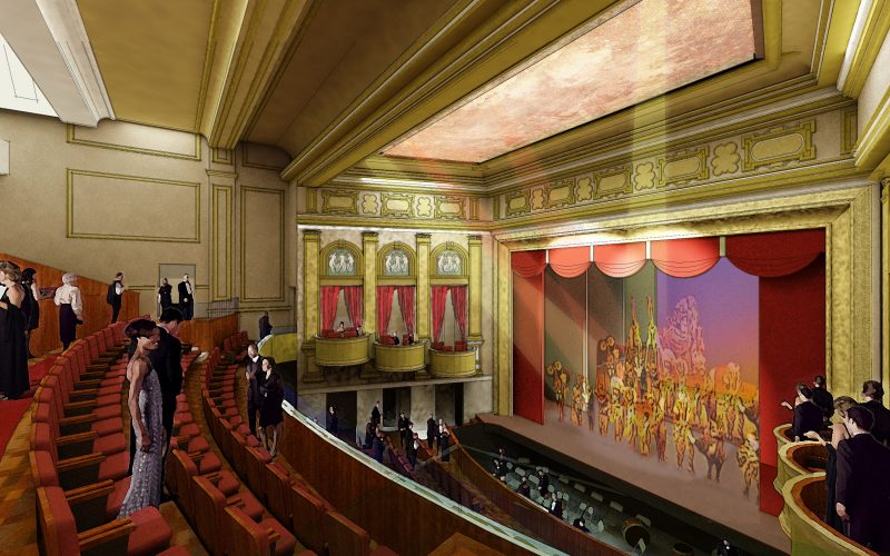 Rendering of the restored 1905 Academy of Fine Arts scheduled to reopen in 2018