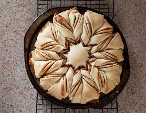 Twisted Christmas Star Bread