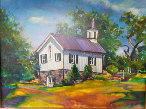 Painting of the Chapel at Old City Cemetery