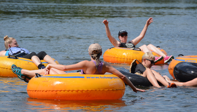 Photo of people tubing down the James River