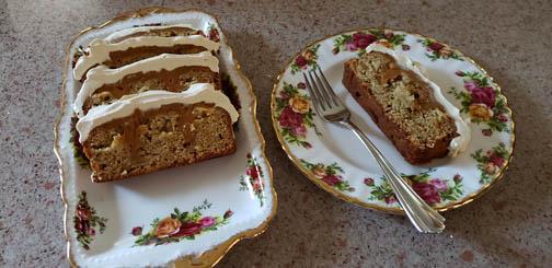 Photo of finished Caramel Apple Poke Cake